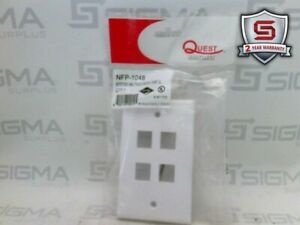 Quest Technology Nfp 1048 Wall Plate White 4 Port q16270 Lot Of 6