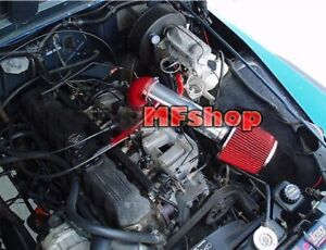 Red For Long 1991 1996 Jeep Cherokee 4 0l I6 Se Sport Laredo Air Intake Filter