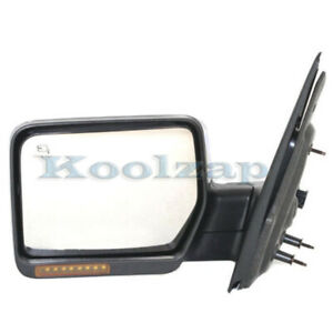 07 08 F150 Truck Mirror Power Heated W Signal Puddle Lamp Chrome Cap Left Side