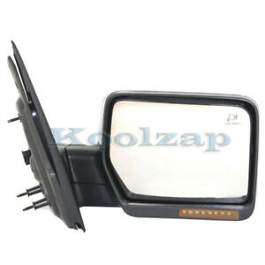 07 08 F150 Truck Mirror Power Heated W Signal Puddle Lamp Chrome Cap Right Side