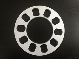 2 Wheel Spacers 5 Lugs 5mm Thick Universal Fit Spacer 1 5 Inches Thickness