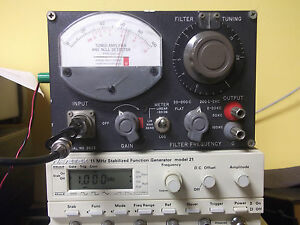 General Radio 1232 a Tuned Amplifier And Null Detector W manual Copy Free Shippi