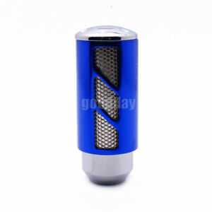 Cool Hollow Out Universal Manual Car Blue Gear Stick Shift Knob Shifter Lever
