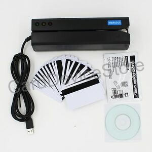 Usb Hico 3 track Magnetic Strip Credit Card Reader Writer Encoder Mag Magstrip