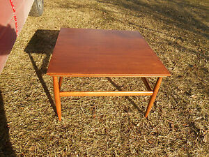 Mid Century Modern Teak Floating Coffee Table Lane Rhythm Eames Era