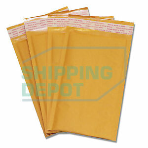 1000 00 5x10 Kraft Bubble Mailers Self Seal Padded Envelopes 5 x10 Secure Seal