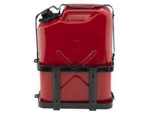 Jerry 5 Gallon Metal Gas Can With Lockable Holder