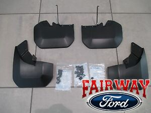 15 Thru 18 Transit 150 250 350 Oem Ford Molded Splash Guards Mud Flaps 4 Pc Srw