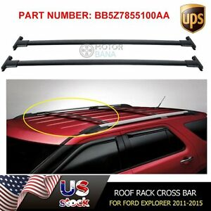 Roof Rack Cross Bars For Ford Explorer 2011 2012 2013 2014 2015 Bb5z7855100aa