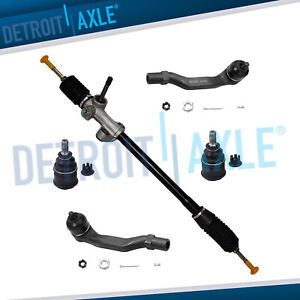 5pc Complete New Manual Steering Rack And Pinion Suspension Kit For Honda Civic