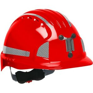 Jsp Mining Hard Hat Cap Style With 6 Point Ratchet Suspension Red