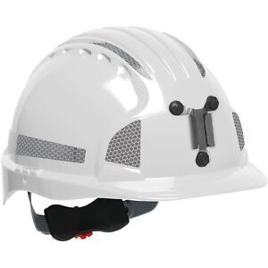 Jsp Mining Hard Hat Cap Style With 6 Point Ratchet Suspension White