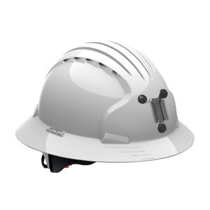 Jsp Mining Hard Hat Full Brim With 6 Point Ratchet Suspension White