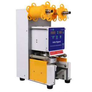 Commercial Full Automatic Electric Bubble Tea Boba Cup Sealer Machine 750 Cups h