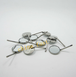100 Pcs Dental Mouth Mirror 4 Inspect Surface Reflector Odontoscope Glimpse Ss