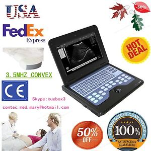 Portable Laptop Machine Digital Ultrasound Scanner 3 5 Convex Probe usa Fedex