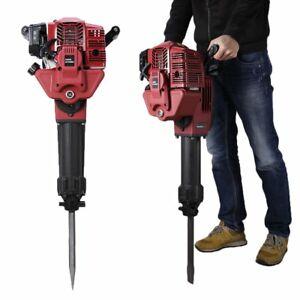 52cc Gas Powered Demolition Jack Hammer Concrete Breaker Punch Drill Chisel Bit