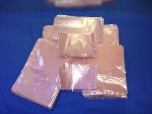 3 X 5 To 18 x24 Pink Flat Anti static Poly Bags 2mil Hard Drives Electronics