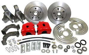 1962 74 Mopar Plymouth Dodge Front Disc Brake Conversion Red Caliper