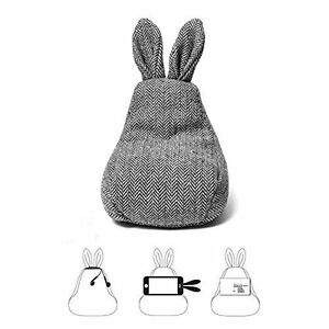 Fabric Rabbit Phone Stand Desk Supplies Phone Holder Bean Bag Style