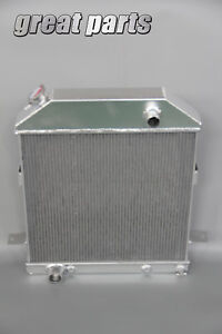 3 Row Aluminum Radiator Fit 1939 1940 1941 Ford Deluxe Sedan Ford Engine