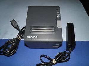 Micros Epson Tm t88v M244a Thermal Pos Receipt Printer With Power Supply Idn