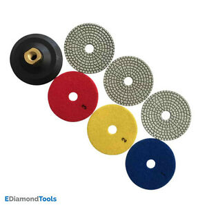 3 Step Stone Polishing Pads For Granite Travertine Marble W Rubber Backer