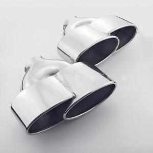 Quad Oval Stainless Steel Exhaust Tips For Benz C Class C250 Amg 2 4 Inlet Pair