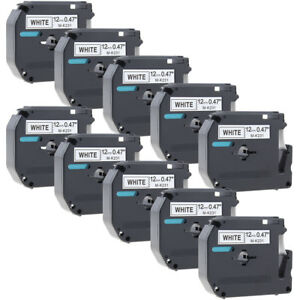 M k231 Mk231 P touch Label Compatible With Brother Label Maker Tape 12 Mm 10pk