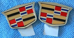2 Oem Cadillac 2 Crest Emblems Genuine Gm Unknown Rat Rod