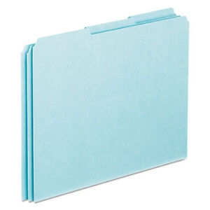 Top Tab File Guides Blank 1 3 Tab 25 Point Pressboard Letter 100 box