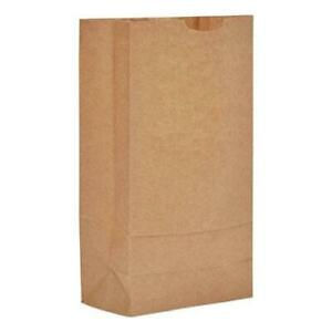 10 Paper Grocery 57lb Kraft Extra heavy duty 6 5 16x4 3 16 X13 3 8 500 Bags