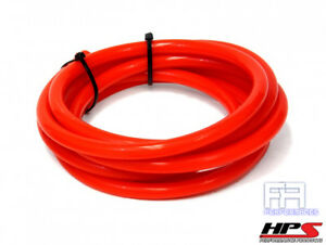 Hps 7mm Full Silicone Coolant Air Vacuum Hose Line Pipe Tube X 10 Feet Red