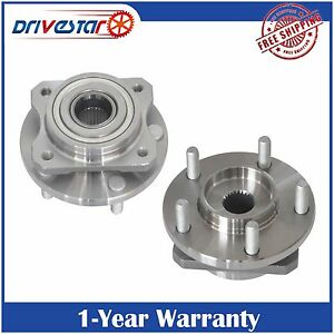 Pair Of 2 Front Wheel Hubs Bearings For Dodge Chrysler Caravan Town Country