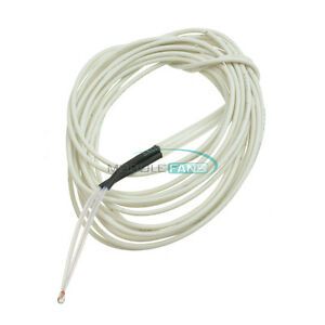 10pcs Ntc 3950 1 Thermistor 100k Ohm With Cable Finished For 3d Printer Reprap