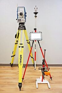 Sokkia Sx 105t 5 Robotic Total Station Rc pr5 Toughpad Xy Positioner Topcon