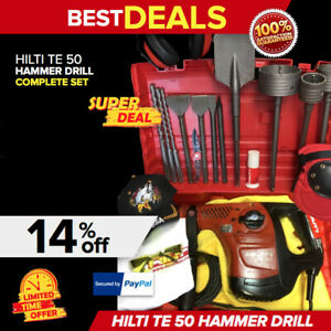 Hilti Te 50 Hammer Drill Preowned Free Extras Bits Chisels Fast Ship