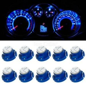 10 X Brightest T5 T4 7 Neo Wedge 12mm 12v 3 Smd Led Light Bulbs Blue Dashboard