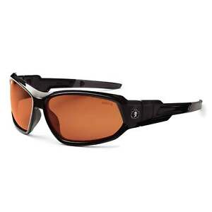 Skullerz Loki Safety Glasses Goggles With Copper Polarized Lens And Black Frame