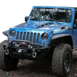 For 2007 2018 Jeep Wrangler Jk Custom Avg Avenger Style Hood Plastic Vents