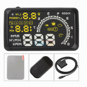 Universal 5 5 Car Obd2 Ii Hud Head Up Display Projector Speed Warning System Ap