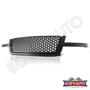 For Silverado 1500 03 05 Bubble Style Black 3pc Front Grille Assembly Grill