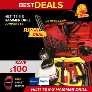 Hilti Te 6 s Drill Preowned Free Smart Watch Bits A Lot Of Extras Fast Ship