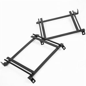 Racing Bucket Seat Base Mounting Adapter Brackets Rails Tracks 92 95 Civic Pair