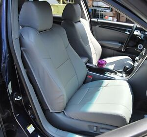 Acura Tl 2004 2008 Grey Leather Like Custom Fit Front Seat Cover