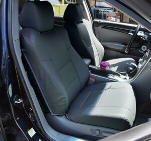 Acura Tl 2004 2008 Charcoal Leather Like Custom Front Seat Cover
