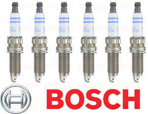 Set Of 6 Zr5tpp33s Bmw Updated Double Platinum Spark Plugs Bosch New