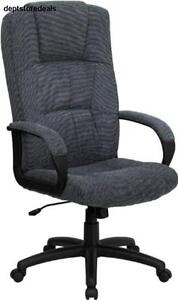 Flash Furniture Bt 9022 bk gg High Back Gray Fabric Executive Office Chair Depth