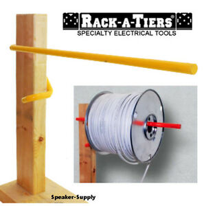 Rack a tiers Electricians Wall Stud Cable Caddy Wire Spool Reel Holder The Stick