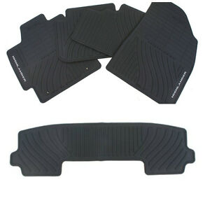 Convo 2008 13 Toyota Highlander All Weather Rubber Floor Mats W 3rd Genuine Oem